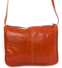 Load image into Gallery viewer, 3525 - Florentine Top Zip Open Front Pocket For that Italian leather look!