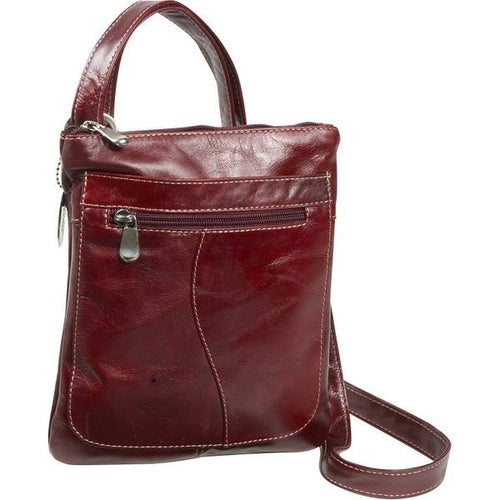3598 - Florentine Slender Shoulder bag For that Italian leather look!