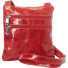 Load image into Gallery viewer, 3734 - For that Italian leather look! Florentine 3 Zip cross body bag
