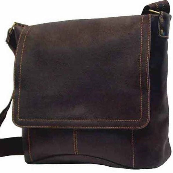 6188 - Distressed Vertical Simple Messenger Bag
