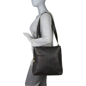 820 - Double Top Zip Shoulder Bag