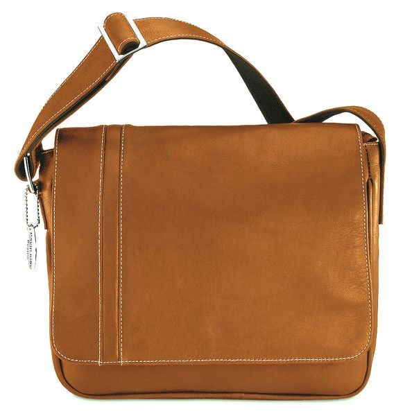 8470 - PREMIER MEDIUM SIZE MESSENGER WITH INLAY