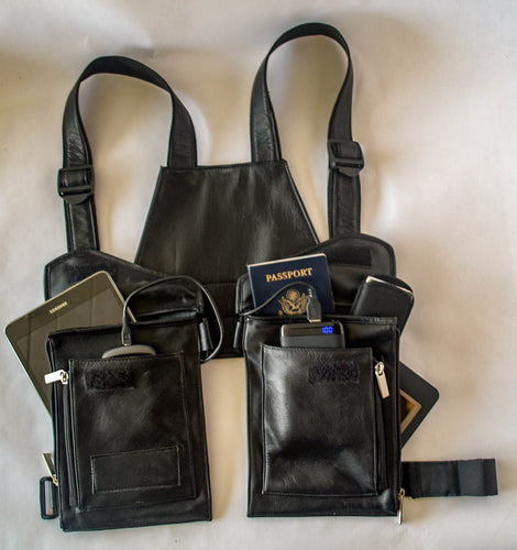 T-tracs® Black, Nappa Leather Body Holster