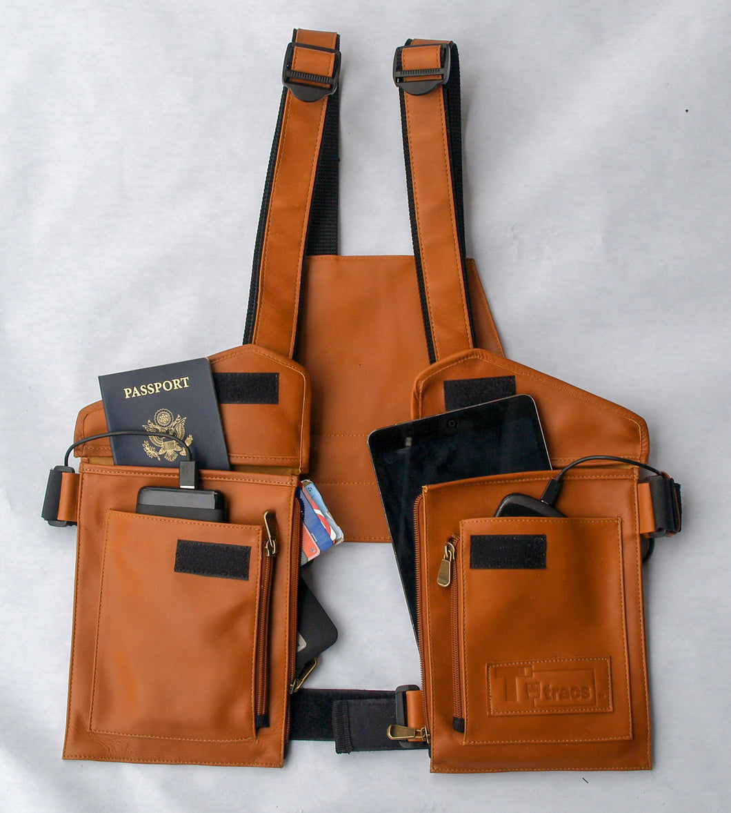 T-tracs® Tan, Nappa Leather Body Holster
