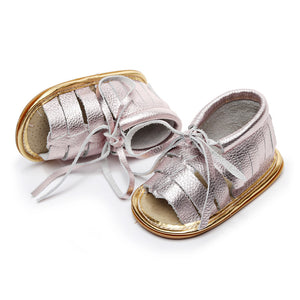 Bebila Genuine Leather Baby Moccasins Hard Soled Girls and Boys Sandals Infant//Toddler