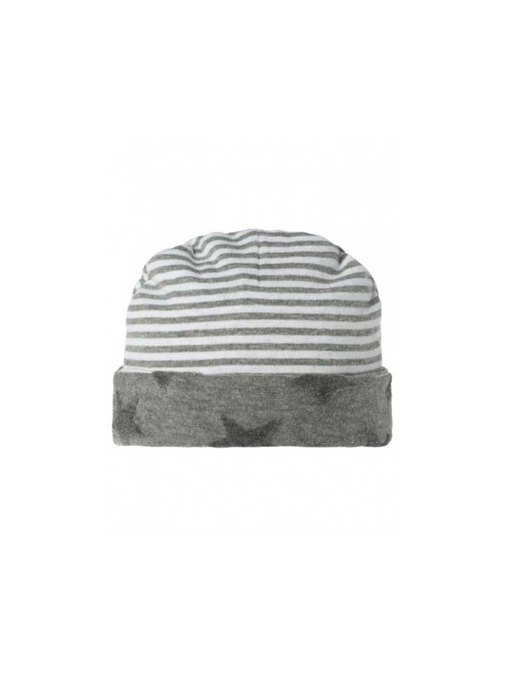 Noppies Unisex Reversible Infant Hat- Grey