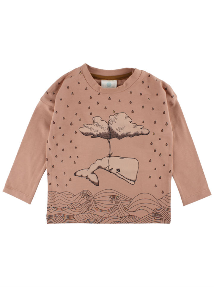 EnFant Long Sleeve Whale & Cloud Shirt