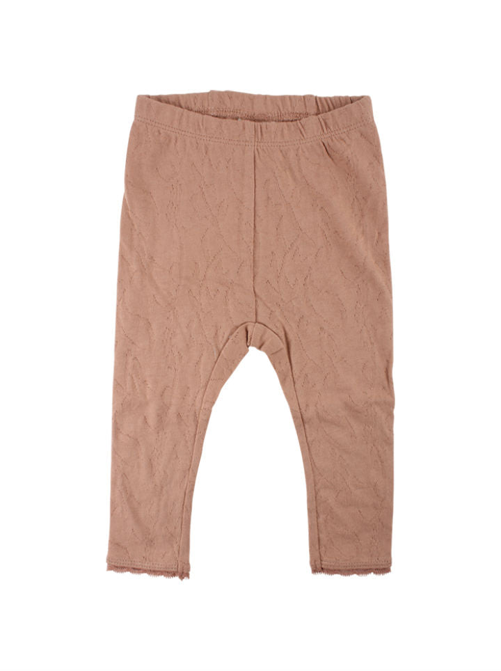 EnFant Cotton Leggings-Cafe Au Lait