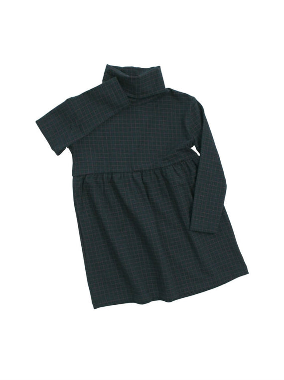 Tiny Cottons Navy Medium Grid Dress