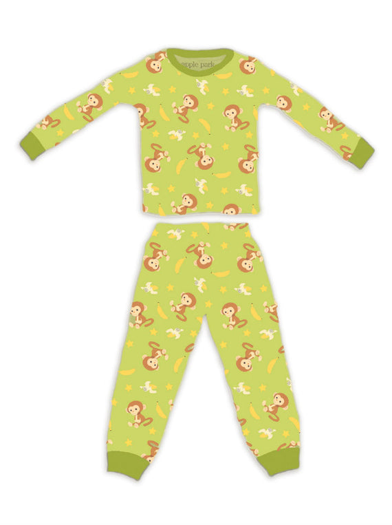 Apple Park Organic Cotton Pyjamas - Monkey