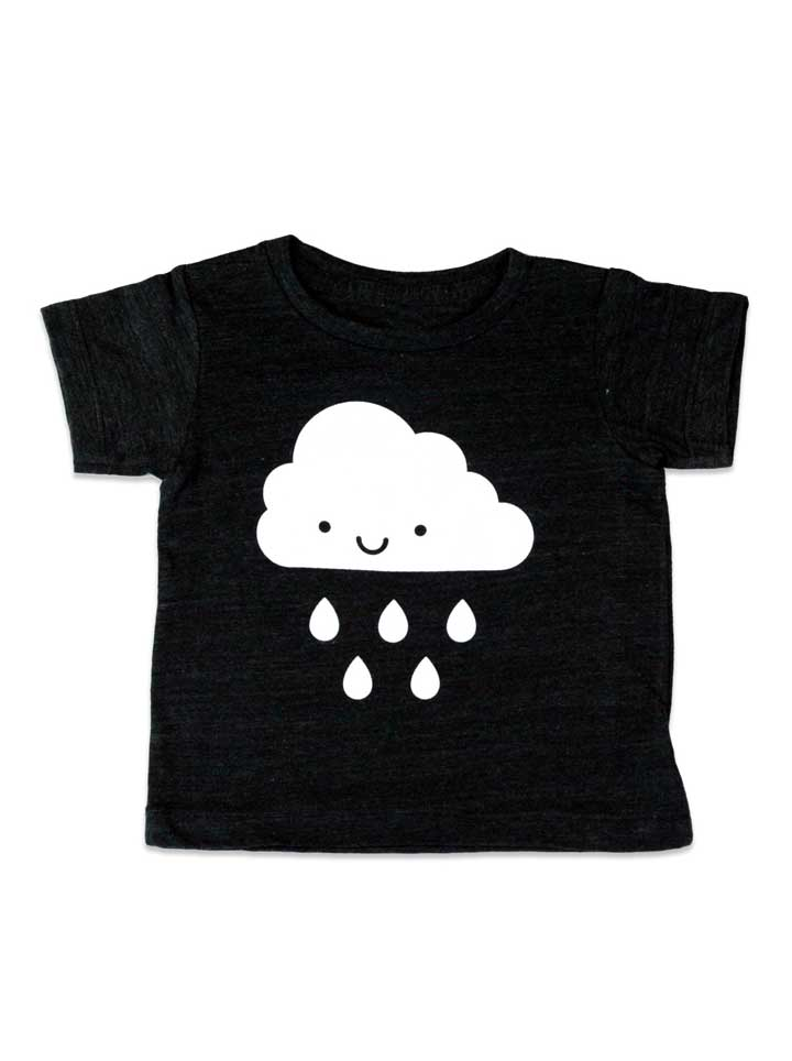 Whistle & Flute Kawaii Cloud T-Shirt - Black