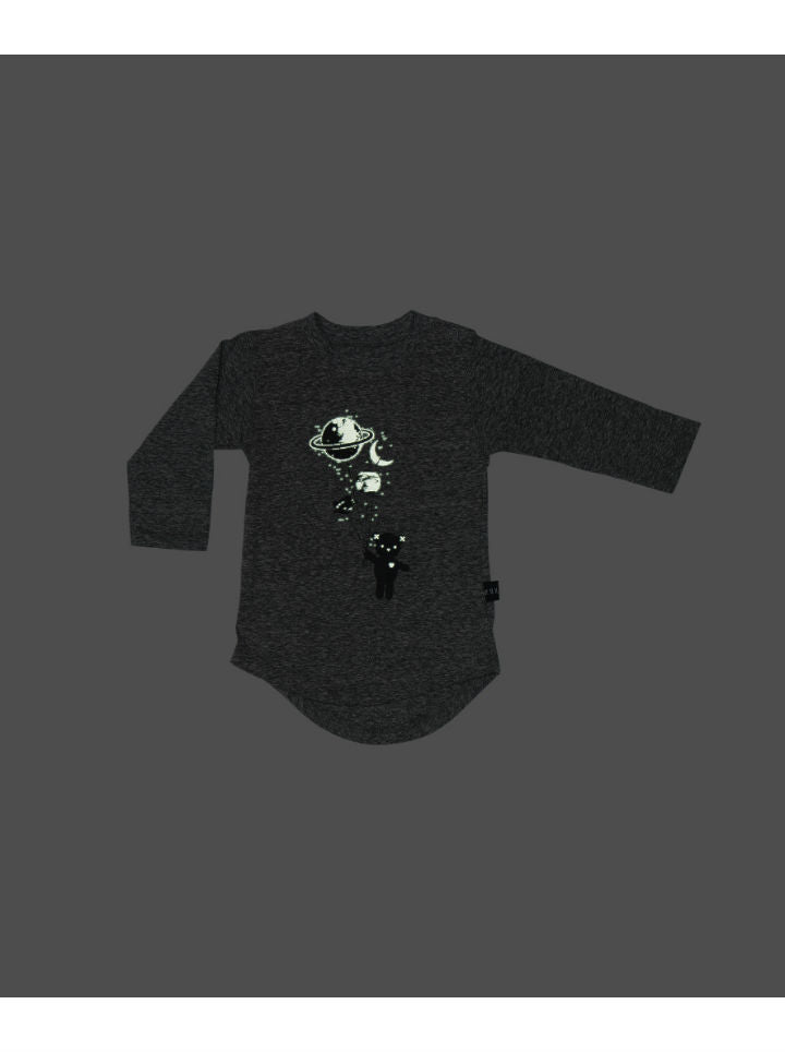 HuxBaby Planet 'glow in the dark' Top