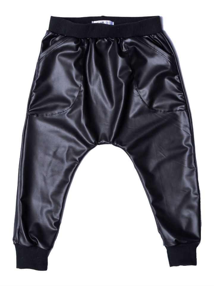 Joah Love Faux Leather Parachute Pant