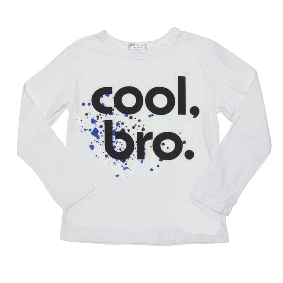 Joah Love Cool Bro White L/S Shirt