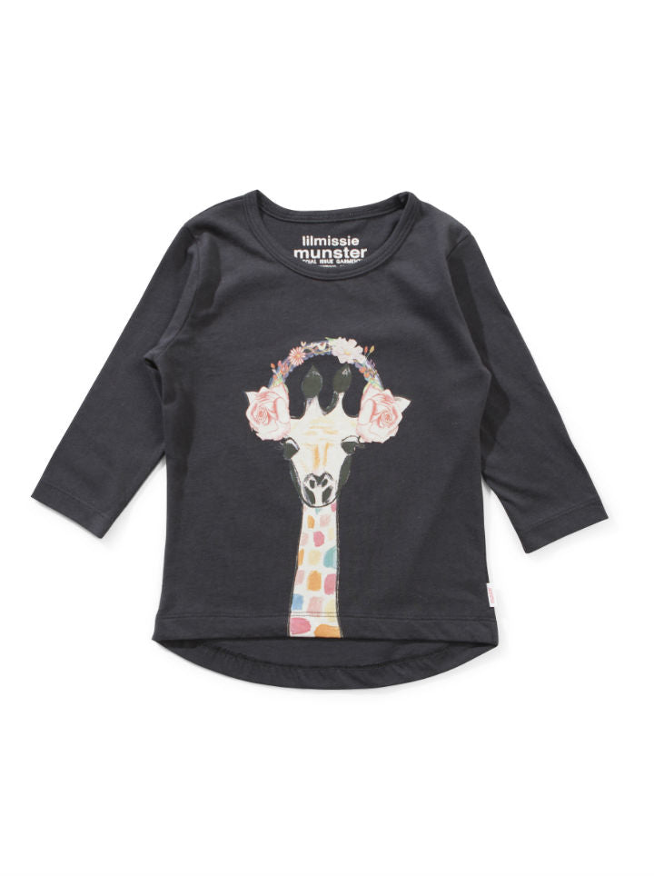 Lil Missie Flower Phones L/S Tee