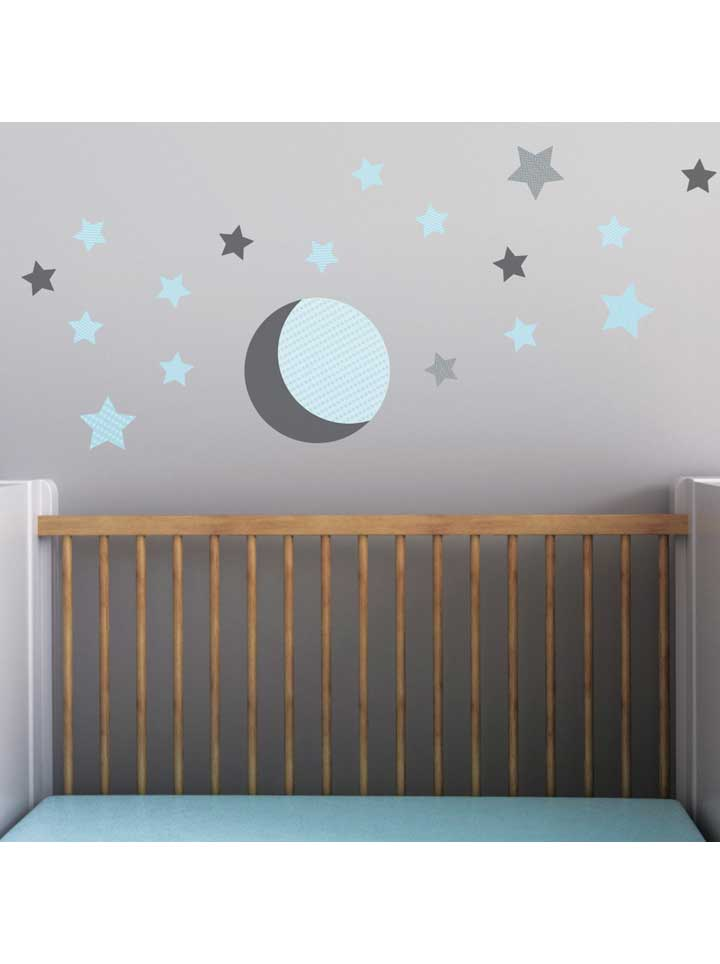 Trendy Peas Moon and Stars Wall Decal