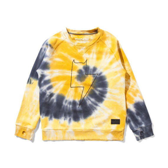Munster Kids Tye Dye Crew Neck Sweatshirt