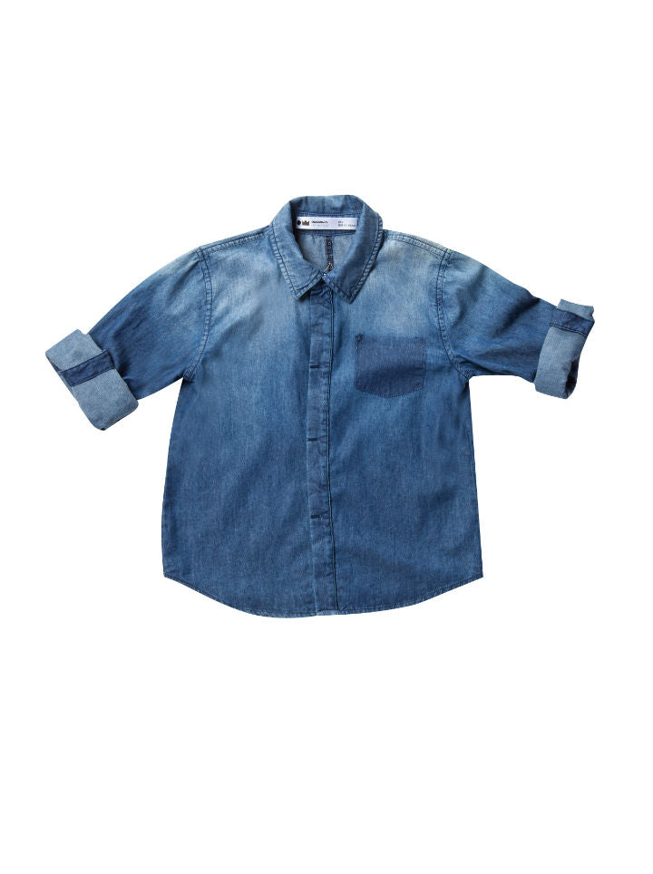 Omamimini Distressed Chambray Shirt