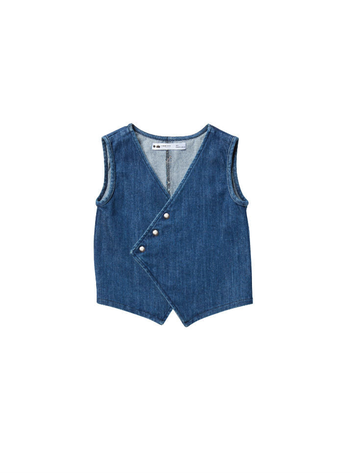 Omamimini Distressed Asymmetrical Vest