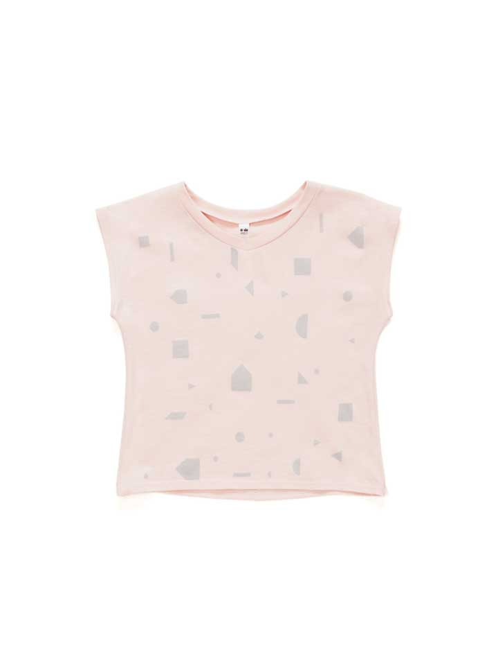 Omamimini Printed T-Shirt - Dusty Rose