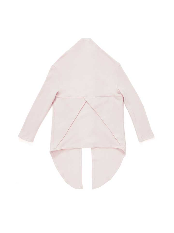 Omamimini Draped Terry Cardigan - Dusty Rose