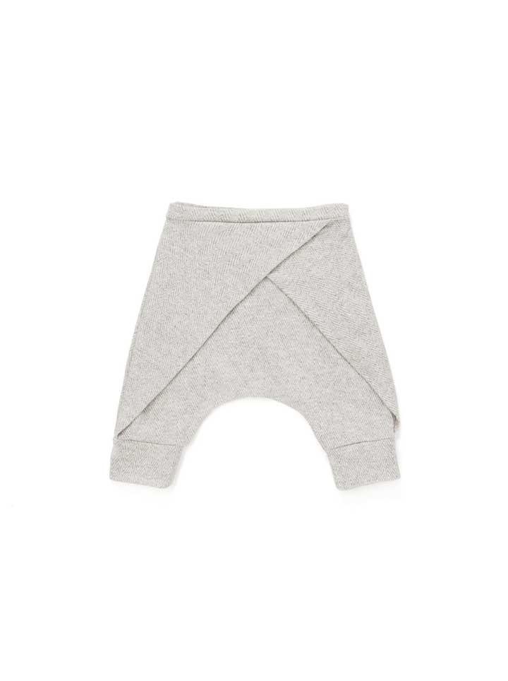Omamimini Harem Shorts With Front Pleat - Grey
