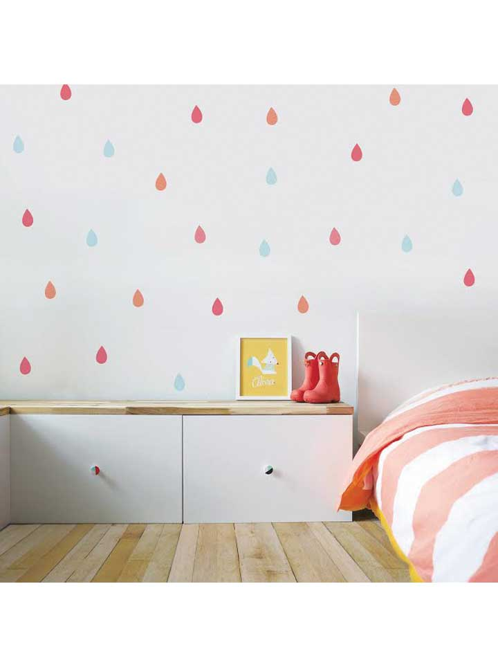 Trendy Peas Colourful Raindrops Wall Decal