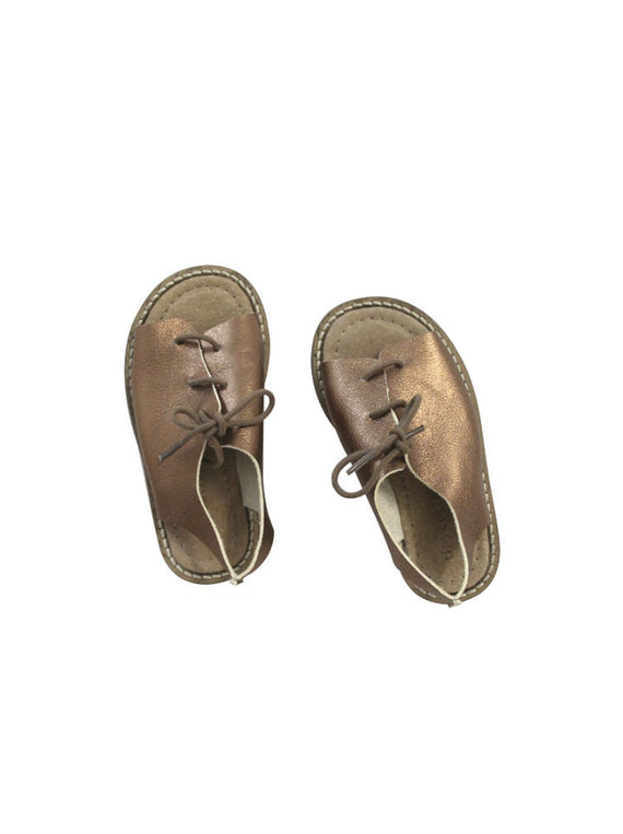 Tiny Cottons Leather Sandal- Copper