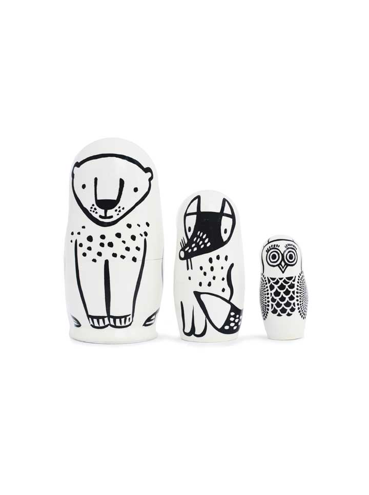 Wee Gallery Forest Friends Nesting Dolls