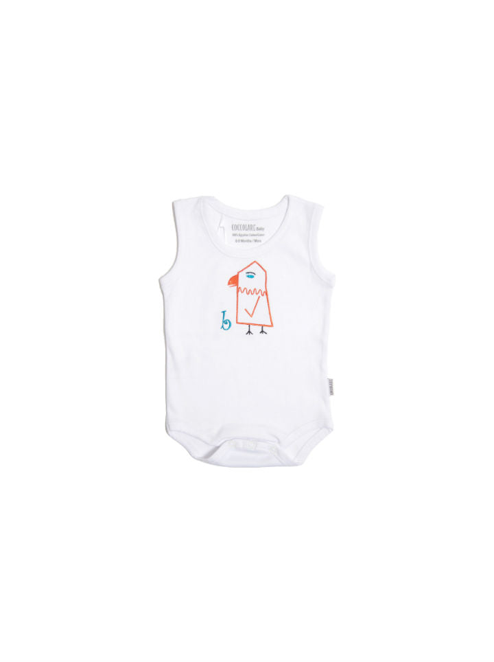 Coccolare Baby Cotton Tank Onesie - Brandi the Birdie