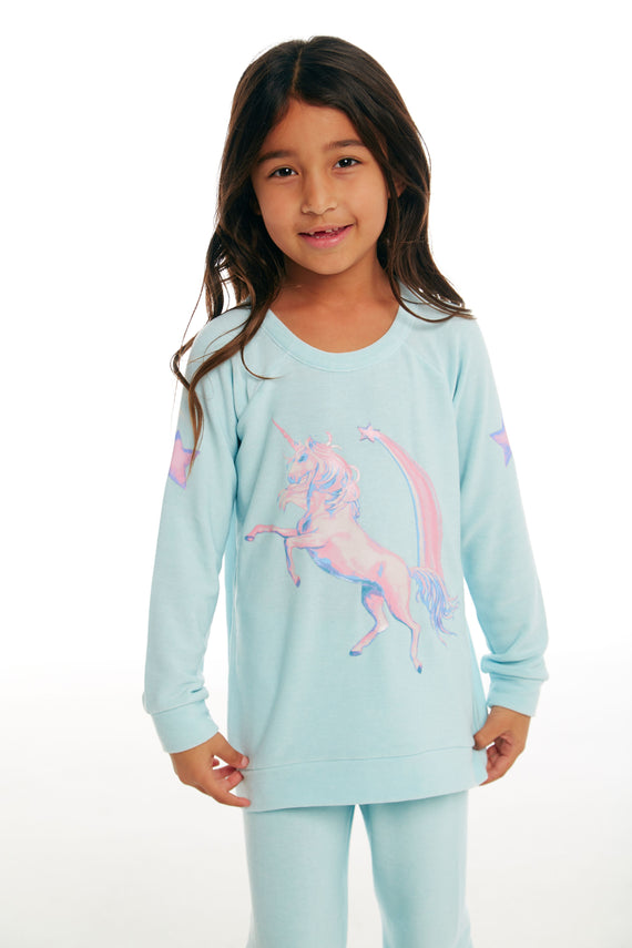 Chaser Brand- Iridescent Unicorn Pullover