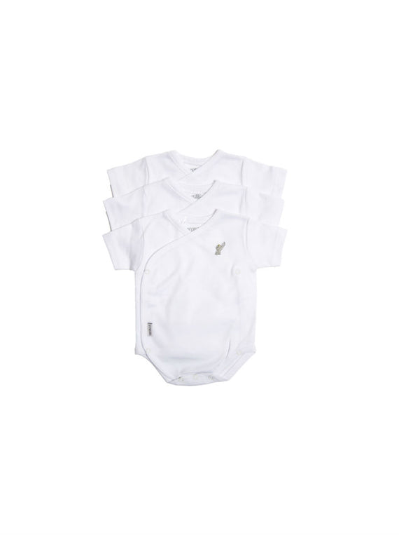 Coccolare Baby Newborn Cotton Short Sleeve Wrap Onesie