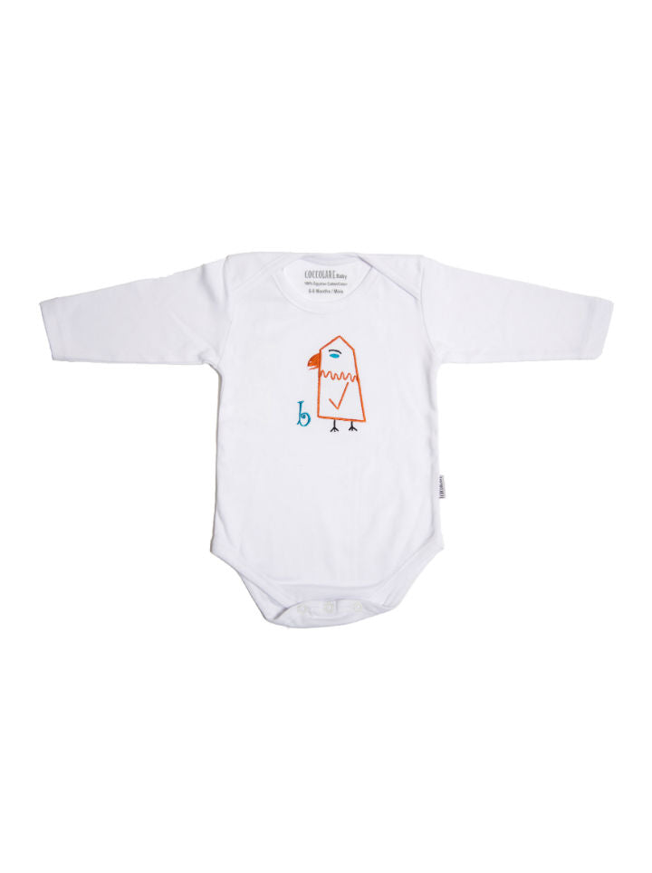 Coccolare Baby Cotton Long Sleeve Onesie - Brandi the Birdie