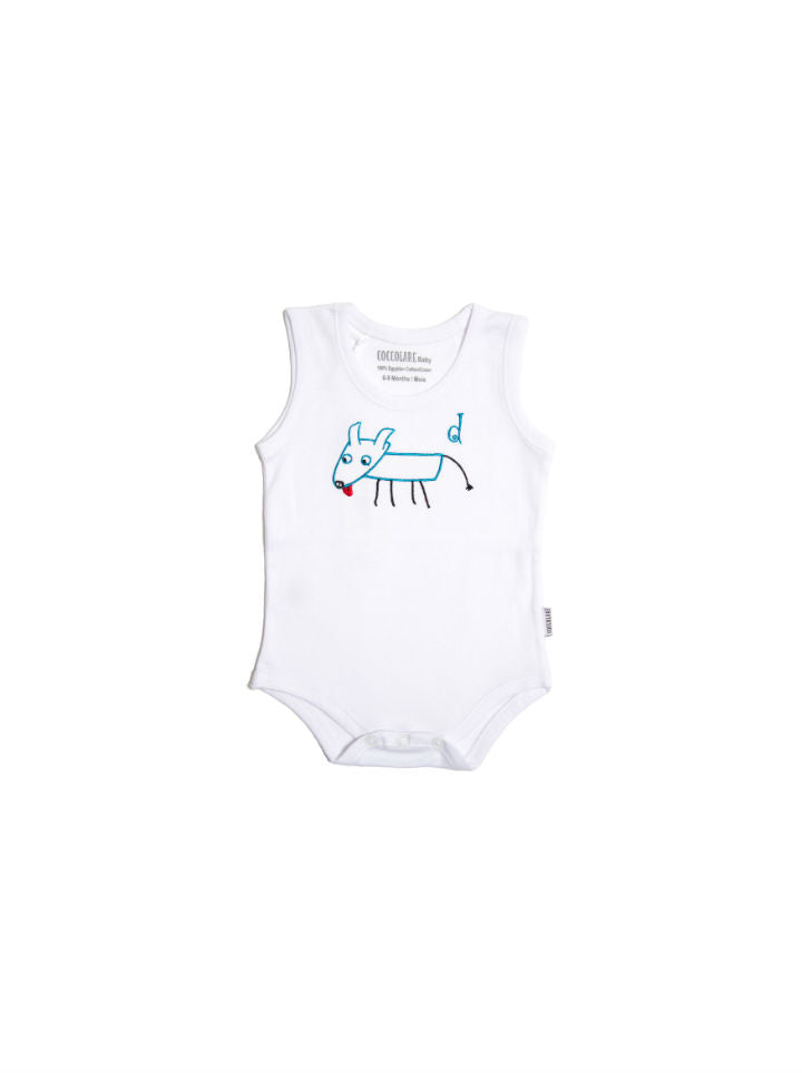 Coccolare Baby Cotton Tank Onesie - Diego the Dog