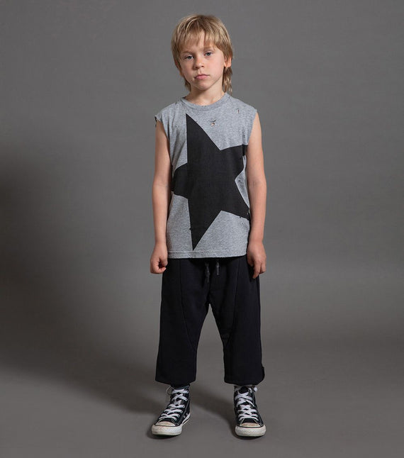 Nununu Mega Star Sleeveless Shirt  - Grey