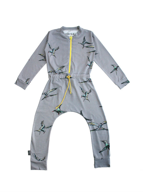 Moi Kidz Girls Jumpsuit- Grey Kria