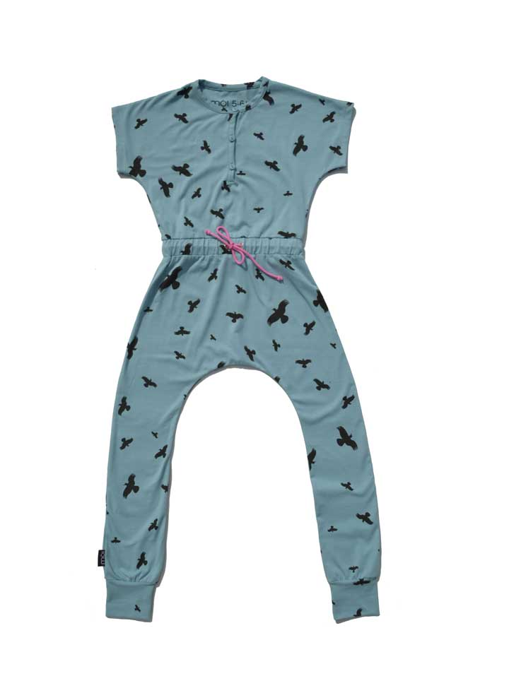 Moi Kidz Raven Jumpsuit - Sea Blue