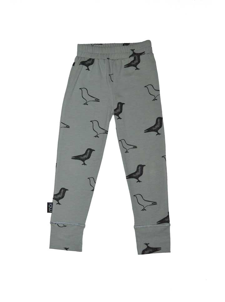 Moi Kidz Bird Leggings - Grey
