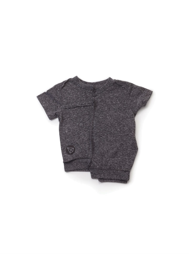 Nununu Asymmetrical T-Shirt- Charcoal