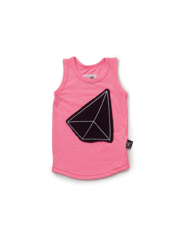 Nununu Geometric Patch Tank  - Pink