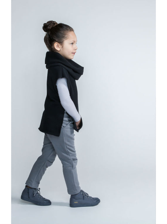 Omamimini Sweatshirt Vest With Cowl Neck