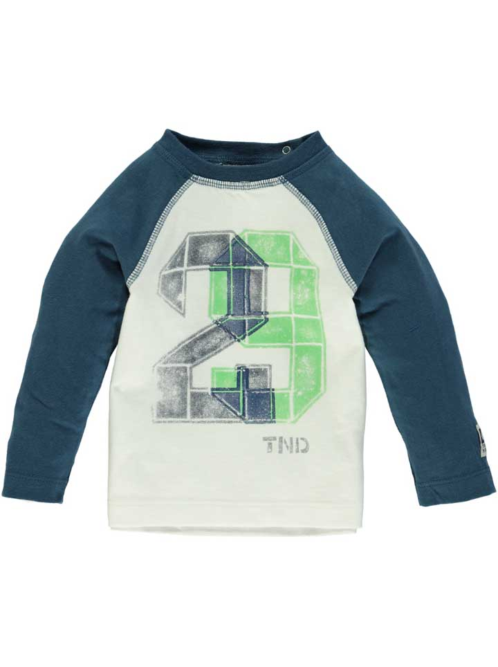 Tumble n Dry Camil Boys Long Sleeve Shirt - White/Blue