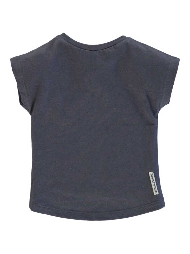 Tumble n Dry Camille Girls Short Sleeve Shirt - Navy