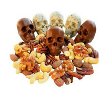 Load image into Gallery viewer, 3D Skull Silicone Ice Cube/Chocolate Mold Tray (4 Sections)
