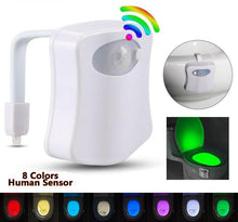 Load image into Gallery viewer, 8 Color LED Motion Sensor Toilet Light
