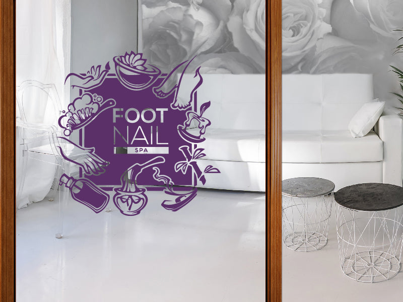 Remarkable Aufkleber Foot Nail Spa Home Interior And Landscaping Ologienasavecom