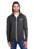 Elevate Unisex Triblend Full-Zip Light Hoodie