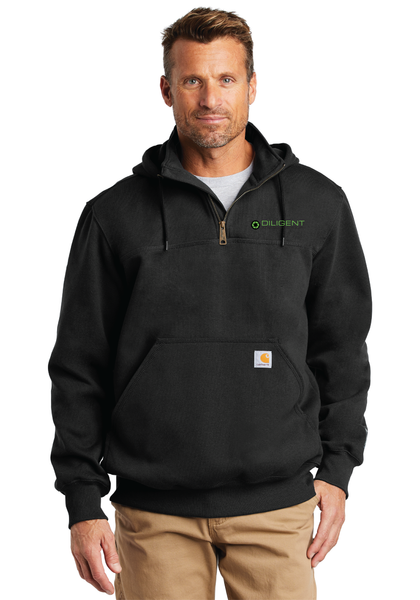 Diligent Advisory Paxton Heavyweight Hooded Zip Mock Sweatshirt