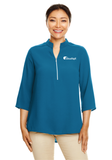 Cloudapt Ladies 3/4-Sleeve Crepe Tunic