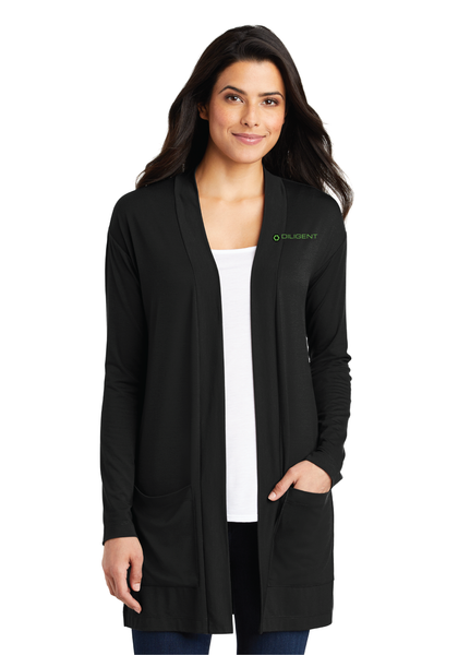 Diligent Advisory Ladies Concept Long Pocket Cardigan